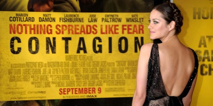 "NEW YORK, NY - SEPTEMBER 07:  Actress Marion Cotillard attends the ""Contagion"" premiere at the Rose Theater, Jazz at Lincoln Center on September 7, 2011 in New York City.  (Photo by Michael Loccisano/Getty Images)"