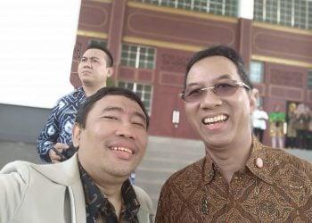 Bersama Ketua Forum Pimpinan Media Digital Indonesia, S.S Budi Rahardjo. Alumni UNKRIS juga.