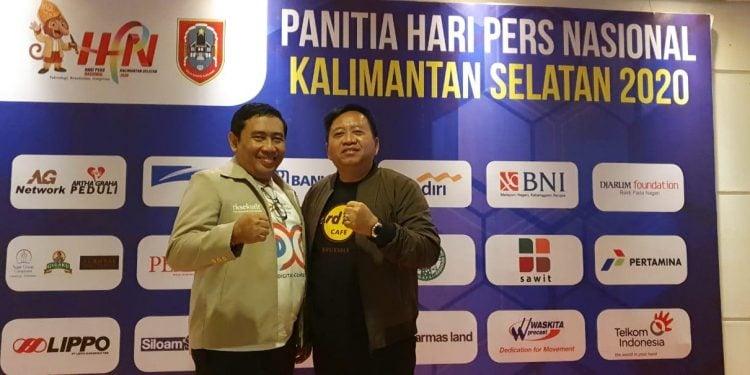 bersama S.S Budi Raharjo, sahabat lama ketika menjadi jurnalis. Sama-sama pendiri Asosiasi Media Digital Indonesia.