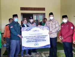 Melalui Program Kemaslahatan BPKH RI dan NU Care – Lazisnu Bantu Warga Malang Tenda dan Masjid Darurat